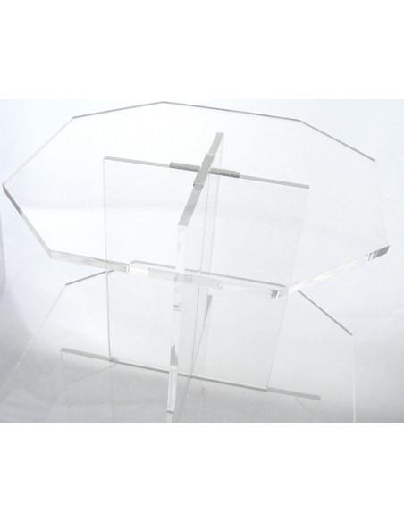 2 Présentoir 3 plateaux avec Pied Transparent Acrylique