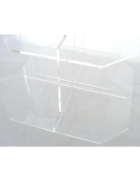3 Présentoir 3 plateaux avec Pied Transparent Acrylique