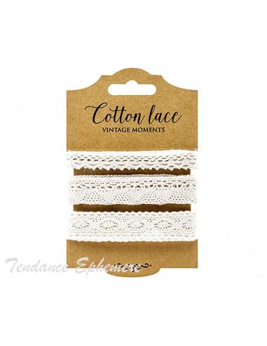 1 Ruban Dentelle Coton Blanc M1/3 - 4,50m
