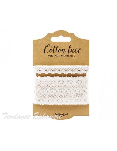 1 Ruban Dentelle Coton Blanc M4/2 - 3m