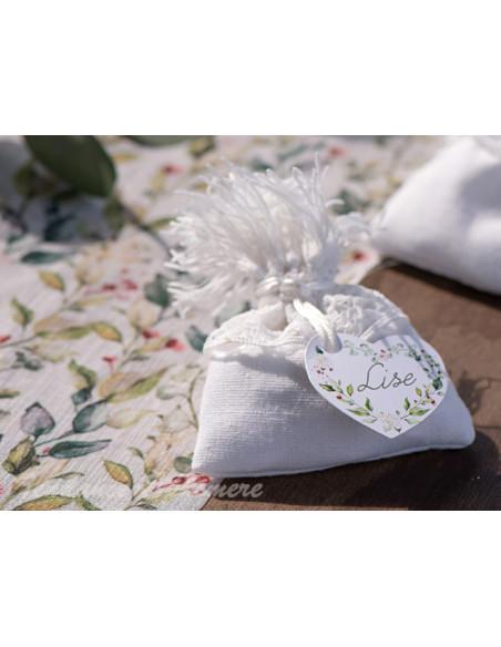 1 Sachet Dragées Coton Blanc Frange