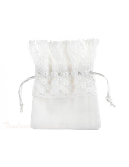 3 Sachet Dragées Coton Blanc Frange