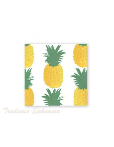 1 Serviette Intissée Ananas