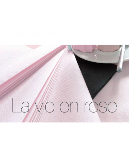 1 Serviette Intissée Rose Poudré 40cm - 50