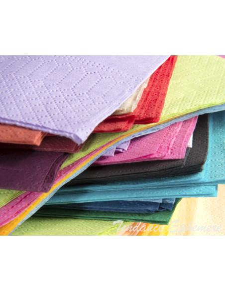 4 Serviette Ouate Couleur 39cm - 16 Coloris