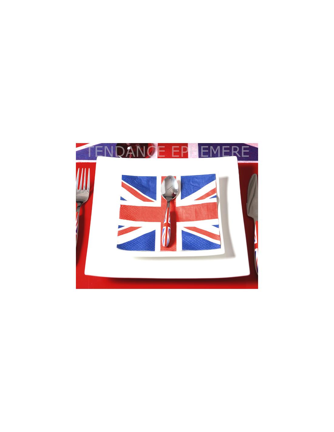 20/serviettes British Flag/ /drapeau britannique//Royaume-Uni//London 33/x 33/cm