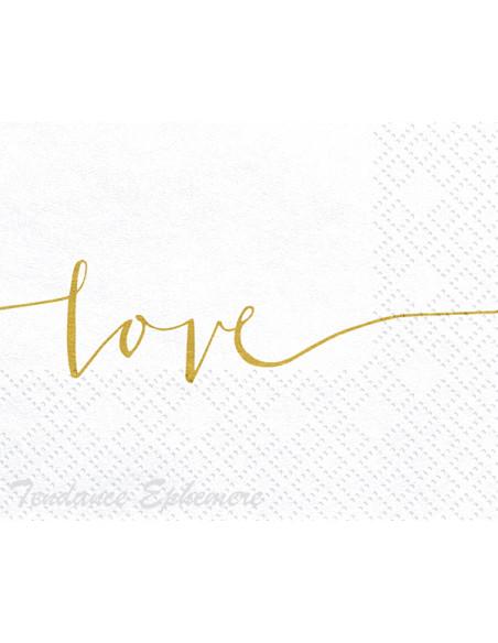 2 Serviette Papier Blanche Love or
