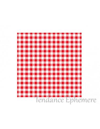 1 Serviette Papier Vichy Rouge 33cm - 30