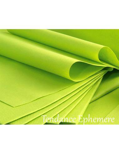 1 Serviette Intissée Vert Anis 40cm - 50