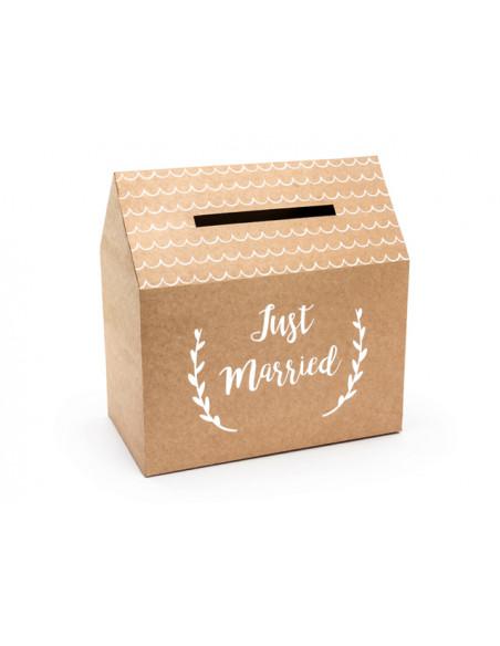 3 Tirelire Mariage Just Married Kraft 30cm