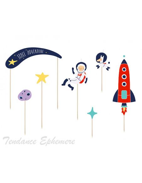 3 Topper Gateau Astronaute