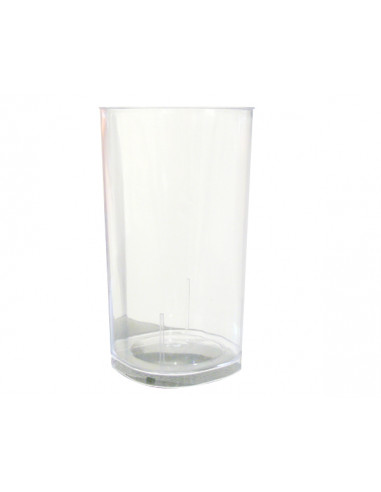 1 Verre Tube Plastique Cristal 20cl