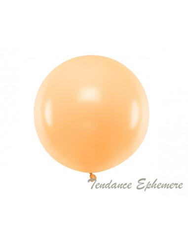 1 Gros Ballon Rond Pêche Pastel 60cm
