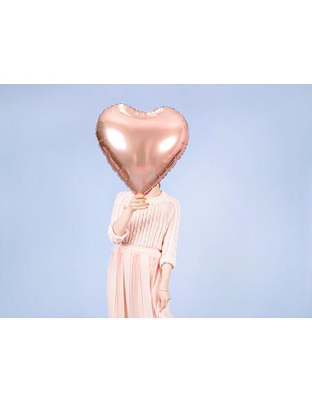 1 Ballon Aluminium Coeur Maxi Rose Gold 61cm