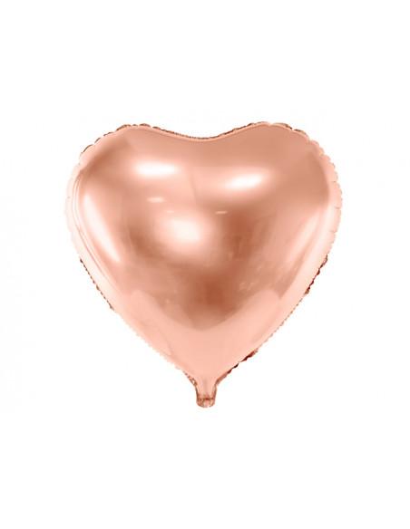3 Ballon Aluminium Coeur Maxi Rose Gold 61cm