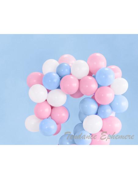 2 100 Ballons Rose Pastel Bébé 12cm
