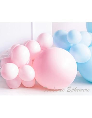 1 10 Ballons Rose Pastel Bébé 30cm