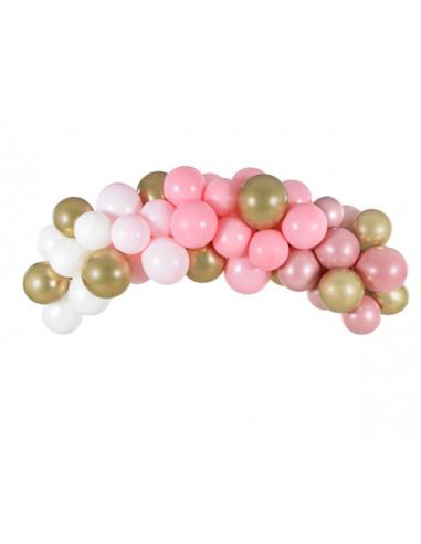 Kit Arche de Ballons Rose 2m