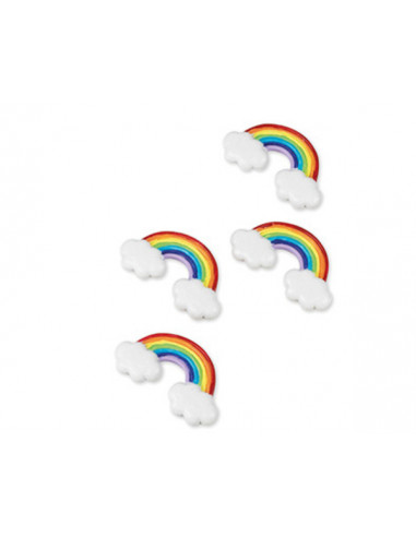 4 Stickers Arc en Ciel Adhesifs