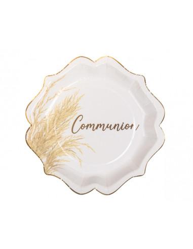Assiette Carton Communion Pampa 23cm