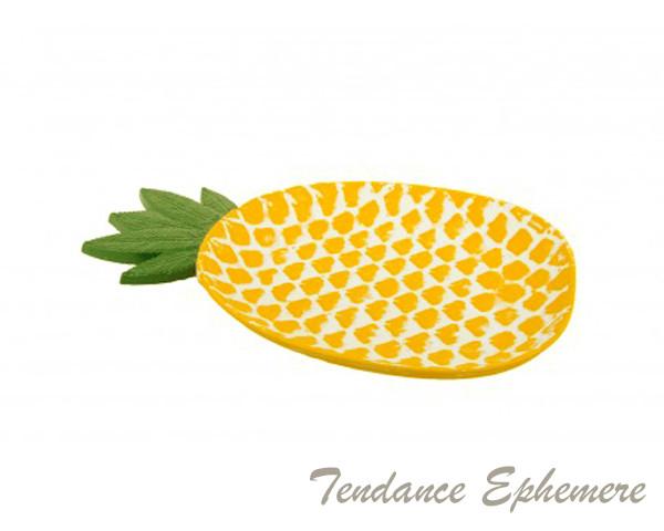 Plat Ananas Bois 30cm