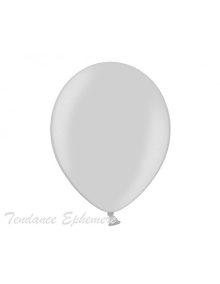 1 50 Ballons Métalliques Argent 27cm