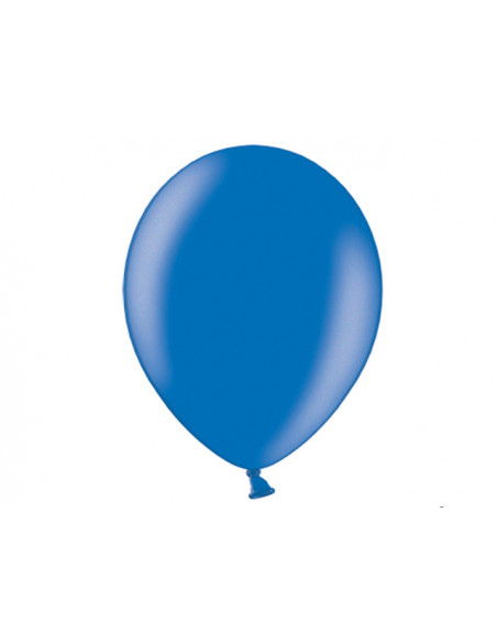 1 10 Ballons Métalliques Bleu Roi 27cm