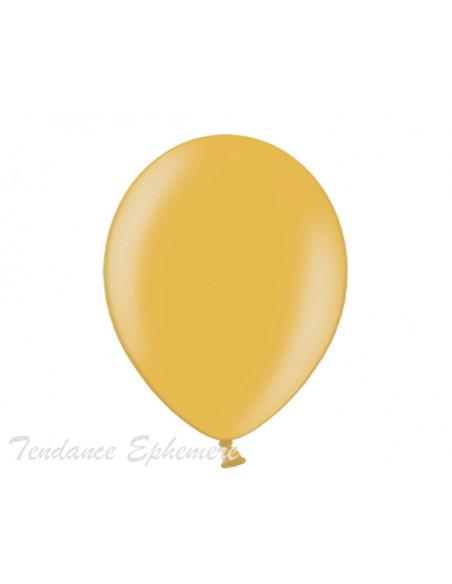 1 50 Ballons Métalliques Or 27cm