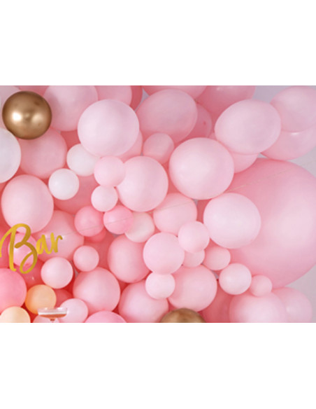 1 10 Ballons Métalliques Rose Bonbon 27cm