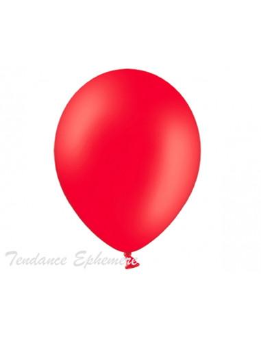 1 50 Ballons Métalliques Rouge 27cm