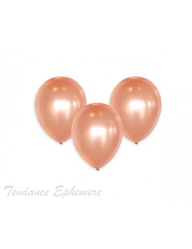 1 100 Ballons Métalliques Rose Gold 27cm