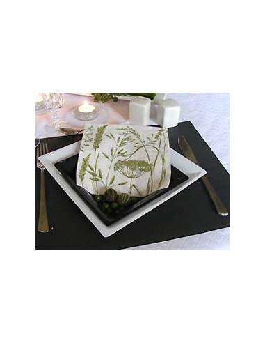 1 Assiette Plastique Carrée Blanche 21,5cm