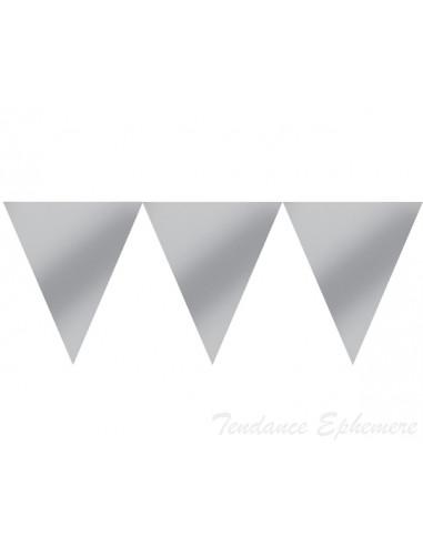 1 Guirlande Fanion Argent Carton 4.5m