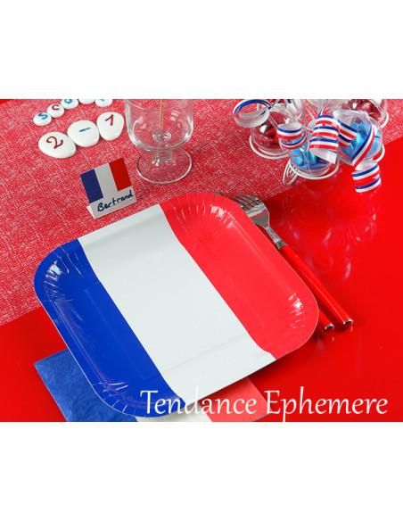 1 Assiette Carton France Carrée 24cm