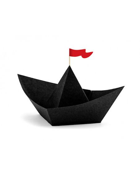 3 Bateau Papier Pirate Noir