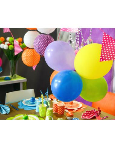 1 8 Ballons Unicolore 23cm - 14 Coloris Disponibles